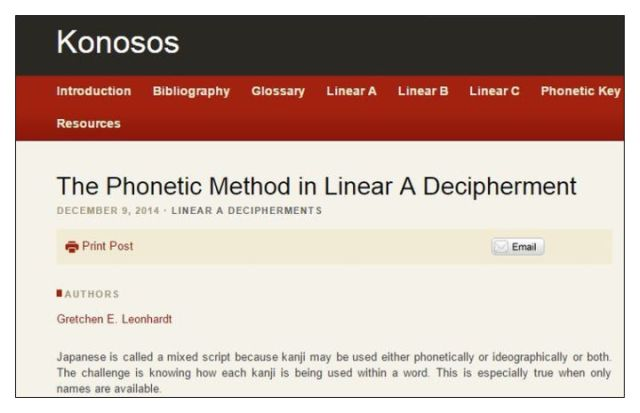 Phnetic Method in Linear A Decipherment