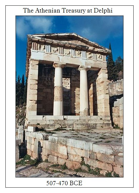 Treasury of Athens at Delphi 507-470 BCE