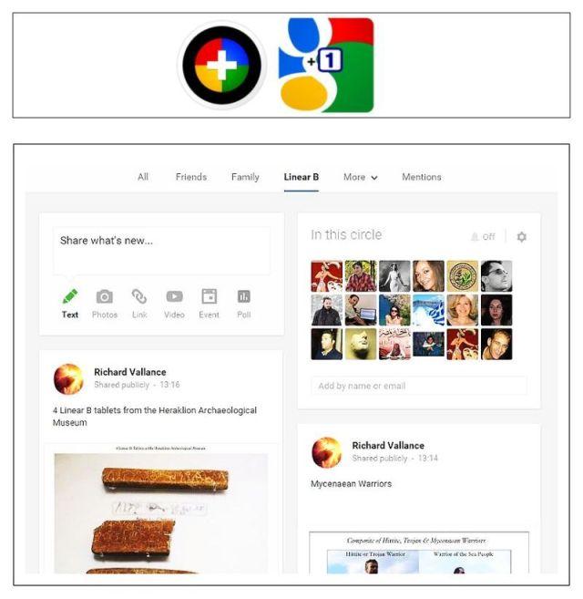 Google + Linear B