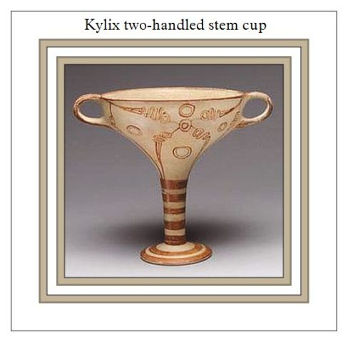 Kylix two handled stemmed Cup
