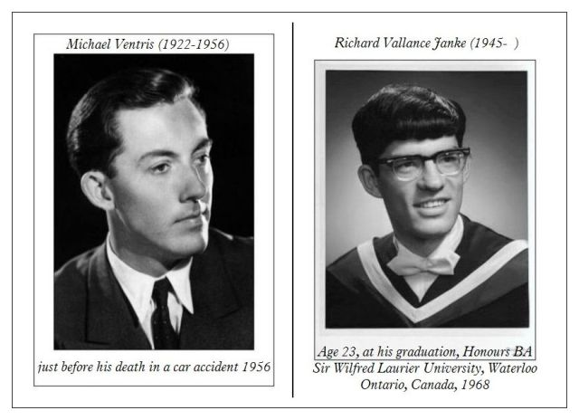 Michael Ventris age 30 & Richard Vallance Janke age 23