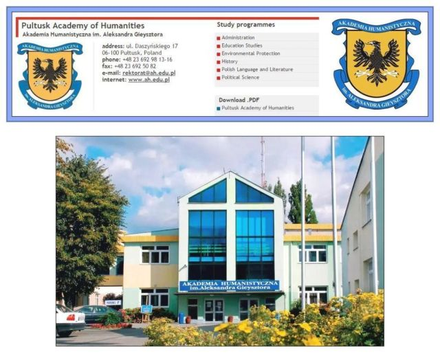 Pultusk Academy and logo
