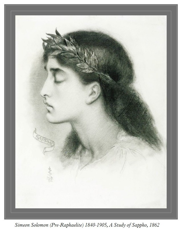 Simeon Solomon 1840-1905 A Study of Sappho 1862
