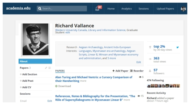 Richard Vallance academia.edu