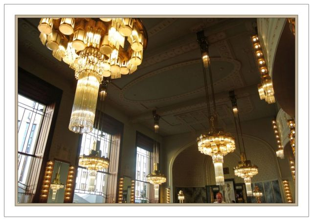 Prague Kavarna Obecni Dum 5 chandeliers