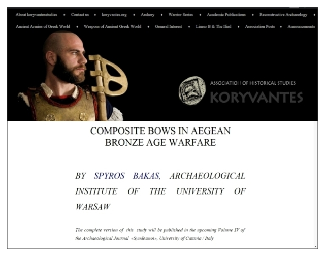 Composite bows in Aegean Bronze Age warfare