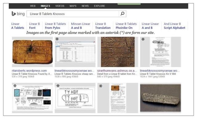 BING Linear B tablets Knossos