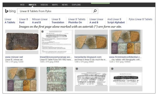 BING Linear B tablets Pylos