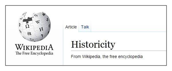 wikipedia historicity