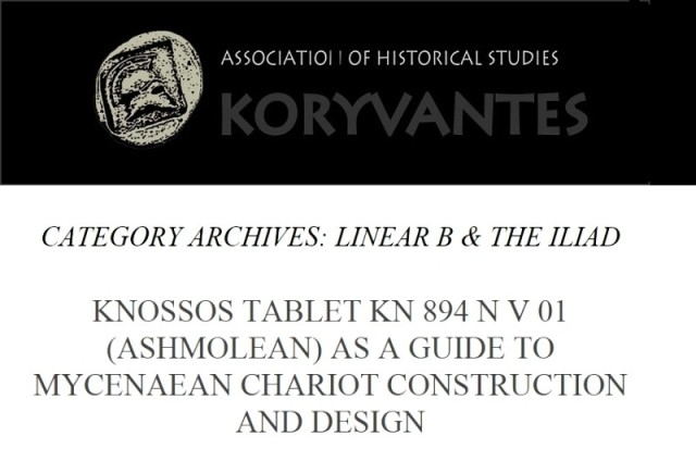 Koryvantes Association of Historical Studies Athens Category Linear B & the Iliad