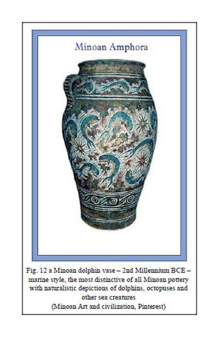 Minoan dolphin amphora 2nd millennium BCE