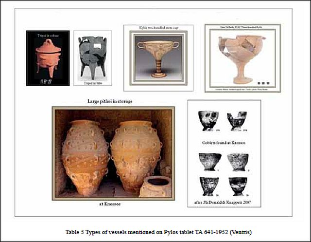 vessels on Pylos tablet 641-1952