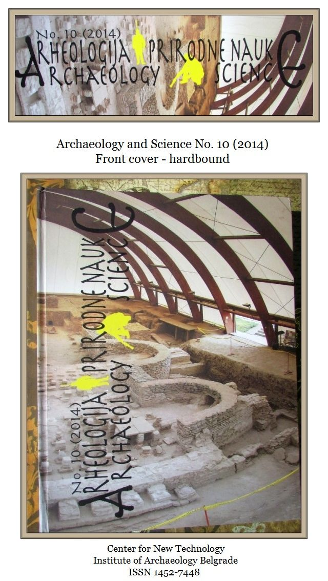 Archaeology and Science 2014 Vol. 10 front cover