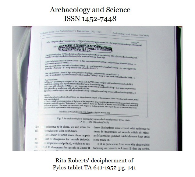 Archaeology and Science 2014 Vol. 10 Rita Roberts pg 141 close