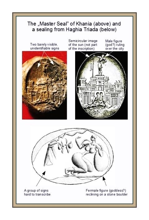 Master seal Khania and sealing Haghia Triada