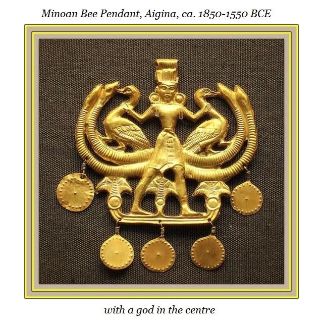 Minoan bee pendant god ca 1850 - 1550 BCE Aigina