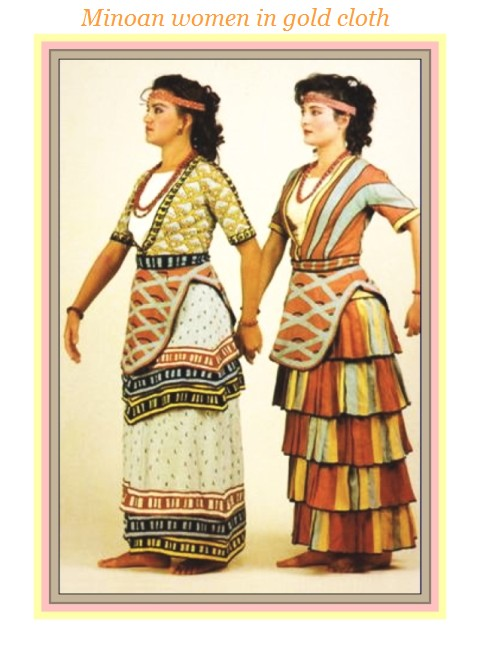 Minoan women in gold cloth