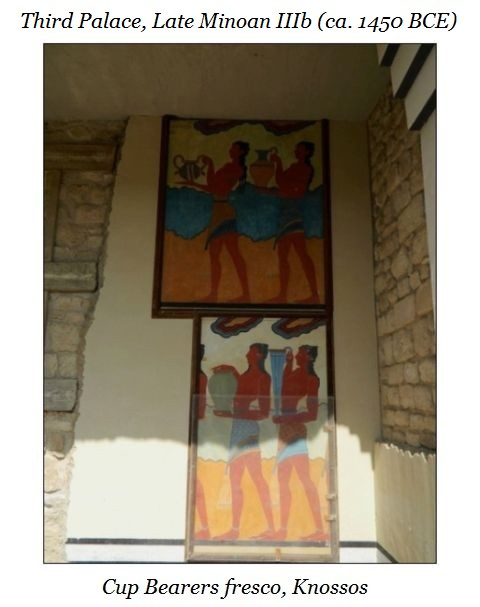 cup bearers fresco Knossos b
