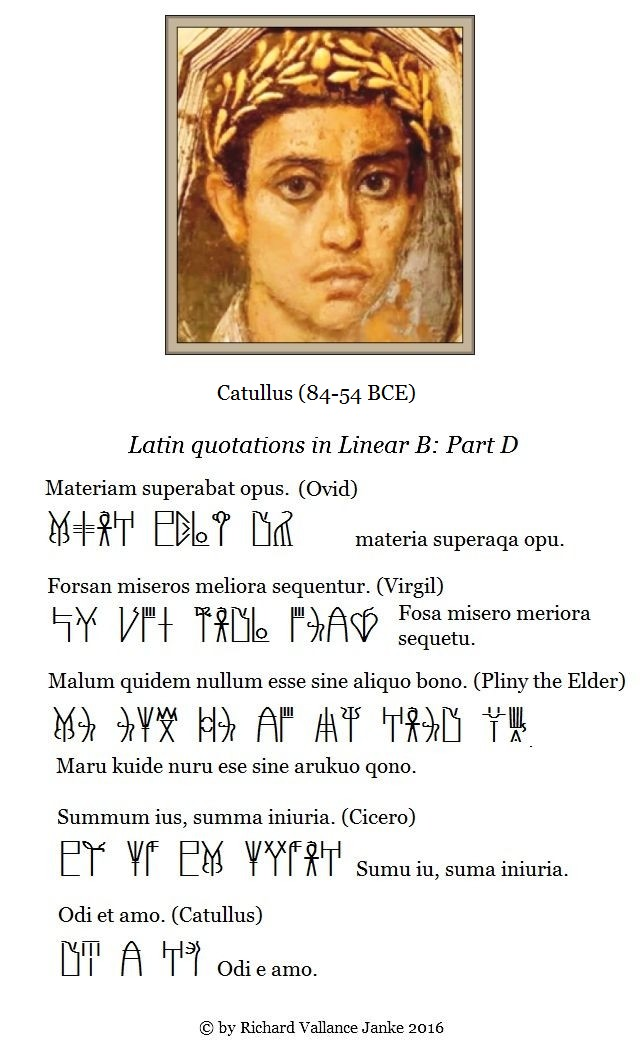 Greek and Latin quotations in Linear B Part D