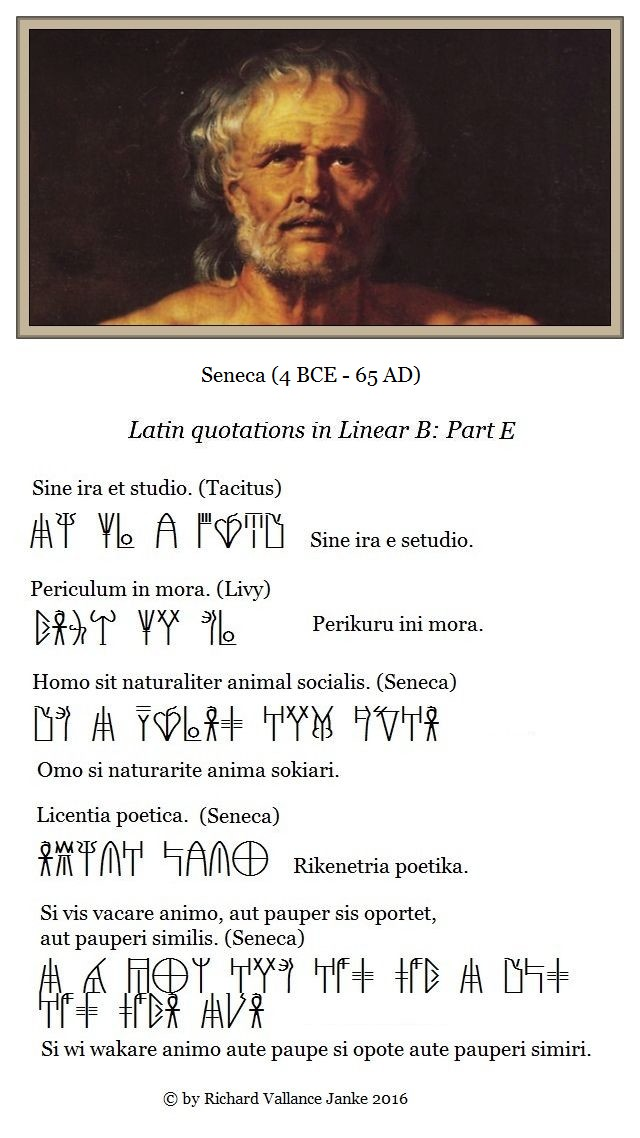 Greek and Latin quotations in Linear B Part E