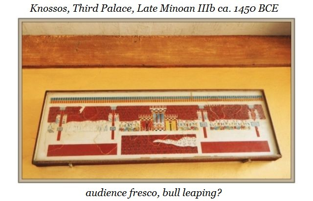 horns of consecration fresco Knossos