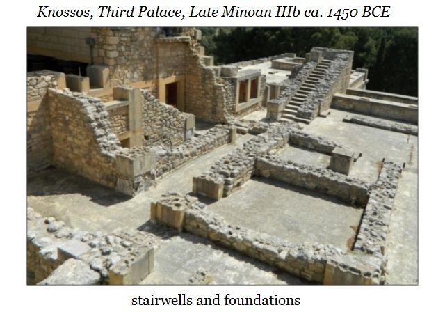 Knossos stairs and foundations a