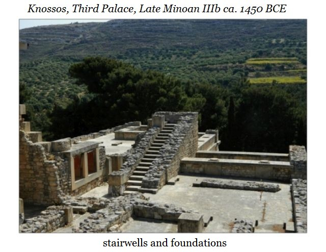 Knossos stairs and foundations b