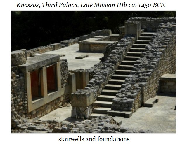 Knossos stairs and foundations c
