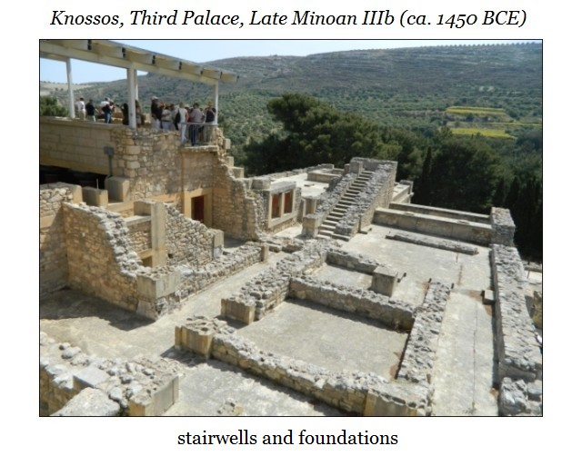 Knossos stairsa nd foundationse