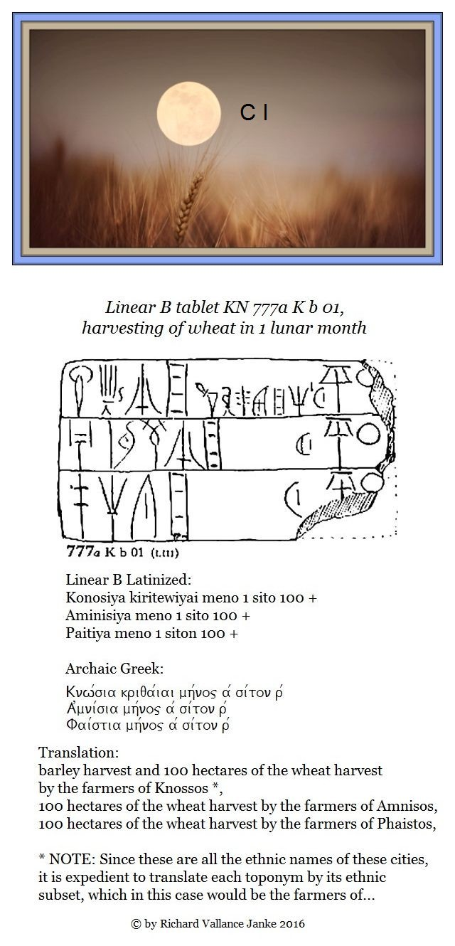 Linear B tablet 777a K b 01