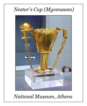 Nestor's cup Mykene National Museum Athens