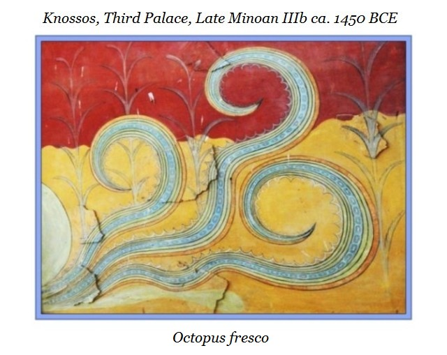 Octopus fresco Knossos