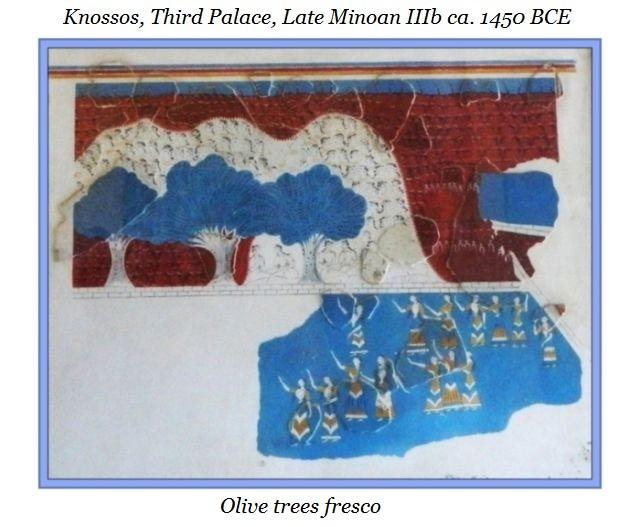 olive trees fresco Knossos