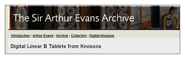 Sir Arthur Evans Archive