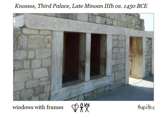 windows Knossos third palace Late Minoan IIIb