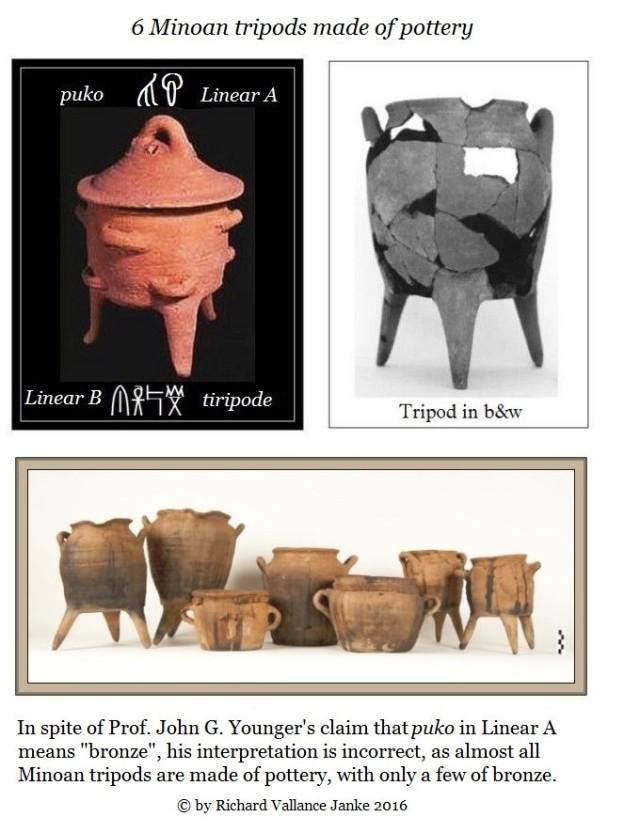 6 Minoan tripods