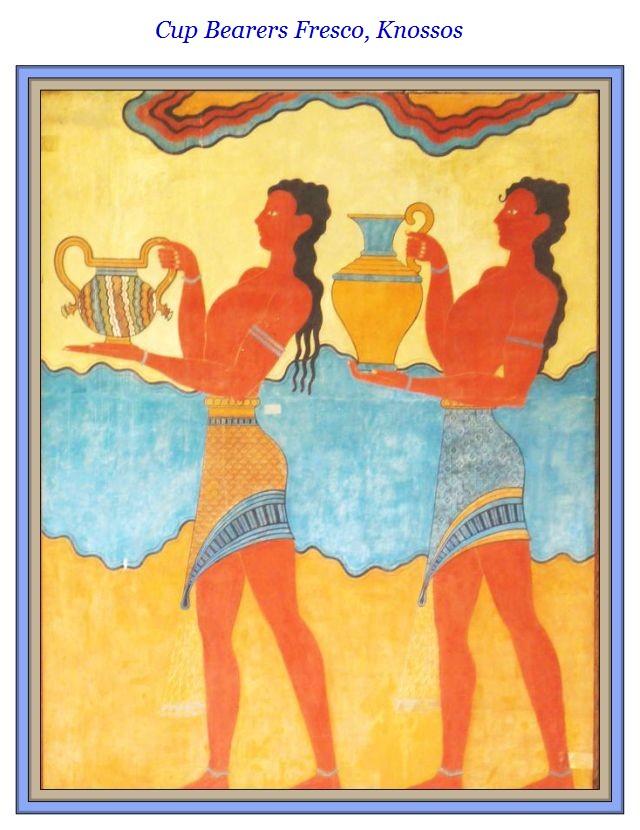 Cup Bearers Fresco Knossos