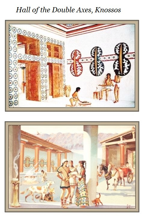 Hall of the Double Axes Knossos ca 12450 BCE