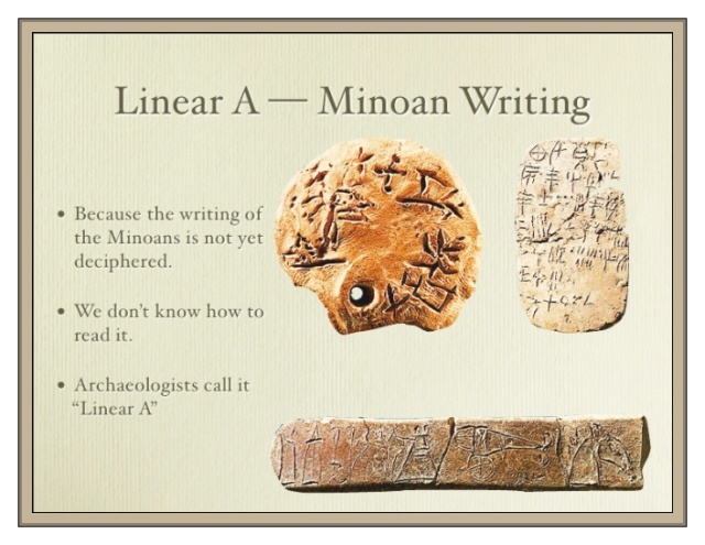 Linear A Minoan Writing sealed