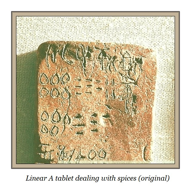 Linear a tablet spices numerics