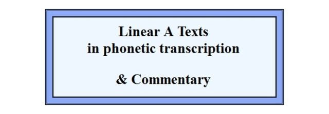 Linear A Texts in phonetic transcription