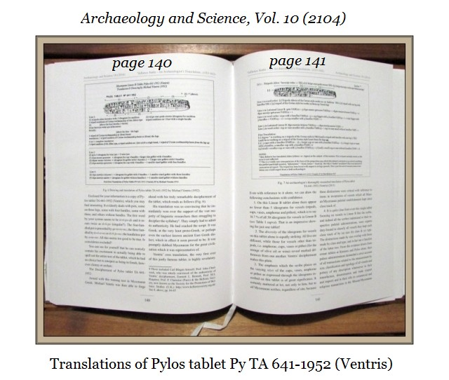 Pylos 641-1952 Archaeology and Science