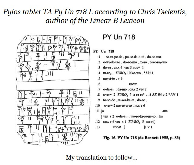 Pylos tablet PY Un 718 Chris Tselentis