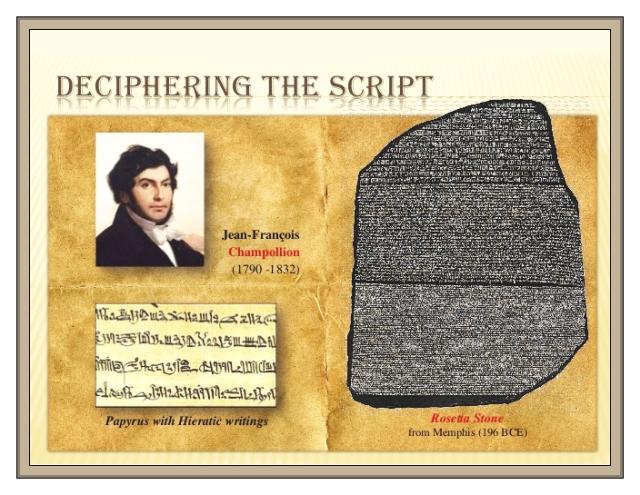 Rosetta Stone Champollion 1790-1832