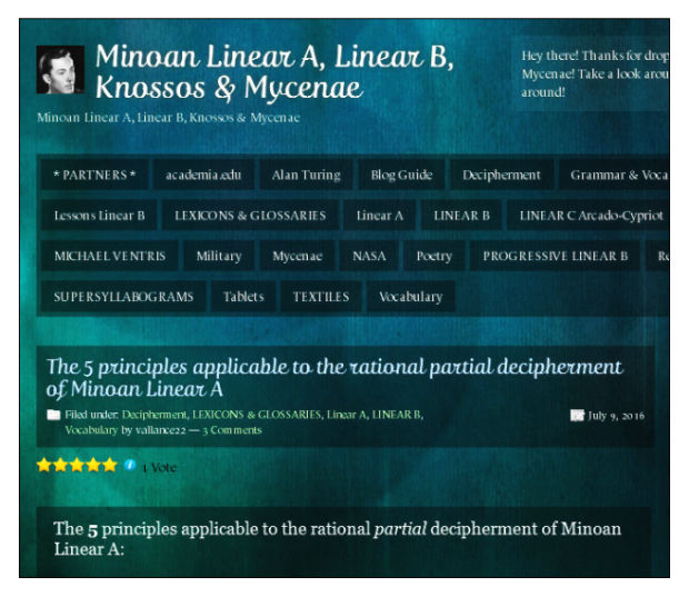 5 Principles of decipherment of Minoan Linear A