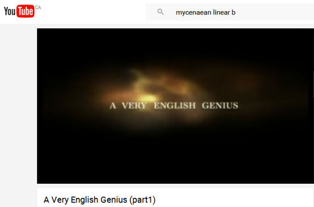 a very English genius Michael Ventris