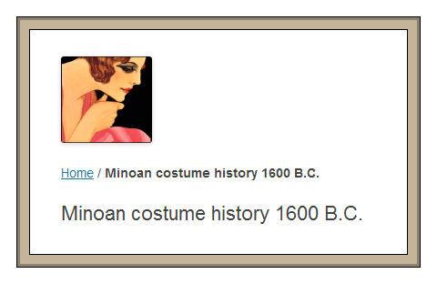 Minoan costume history