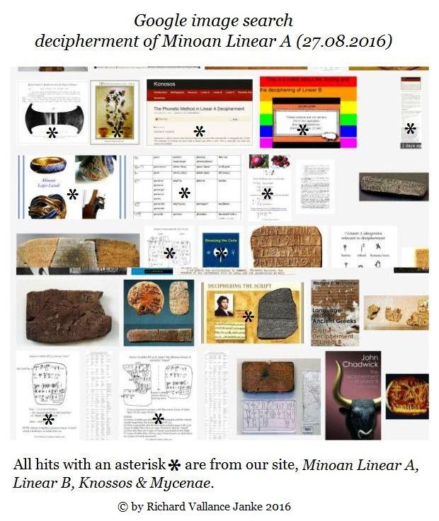 Minoan Linear A decipherment Google