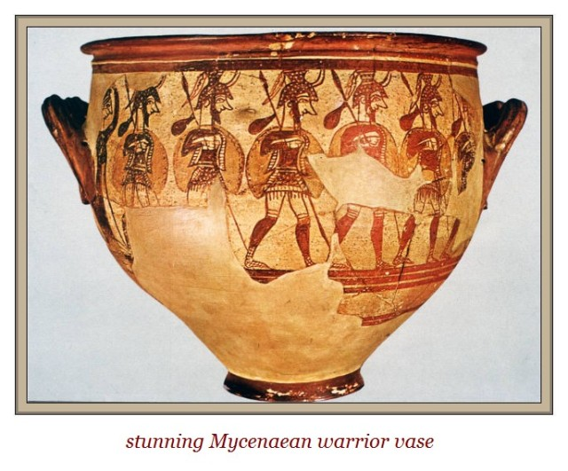 mycenaean warrior vase