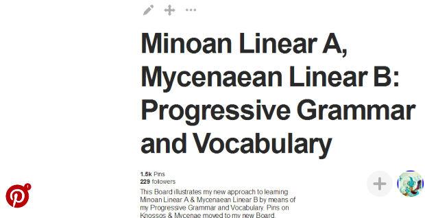 PINTEREST Minoan Linear A Linear B